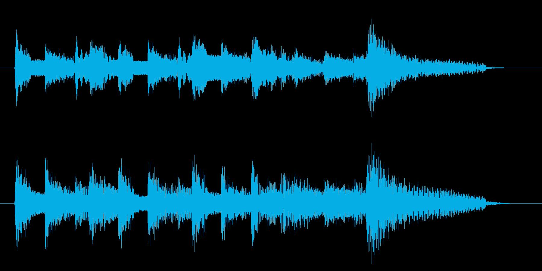アコギ 落ち着いたジングル 8秒の再生済みの波形