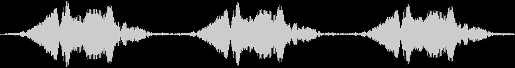 声を消すピー音(ネコの鳴き声バージョン)の未再生の波形