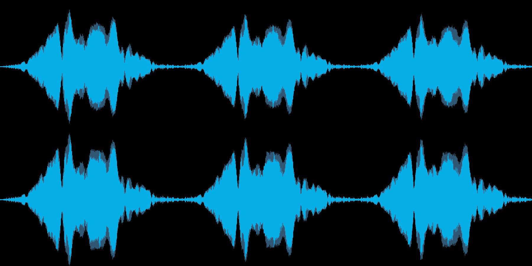 声を消すピー音(ネコの鳴き声バージョン)の再生済みの波形