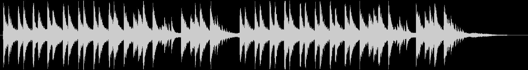 透明感と重厚感のあるピアノの未再生の波形