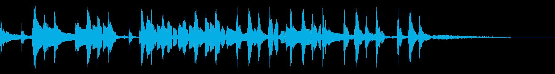 テイクファイブ風のテナーサックスの再生済みの波形