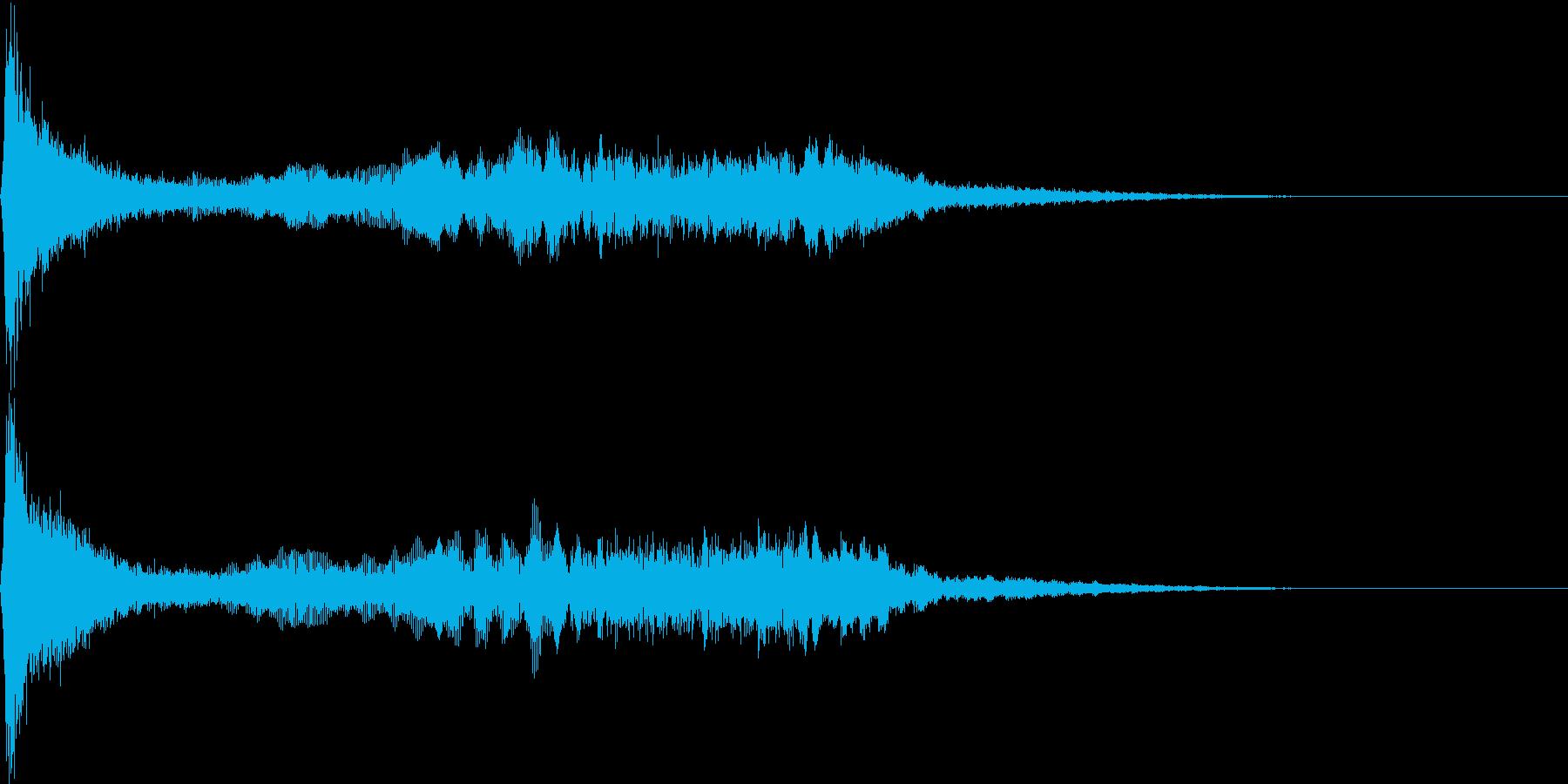 【ホラー演出】シーン_13 気づかれた。の再生済みの波形