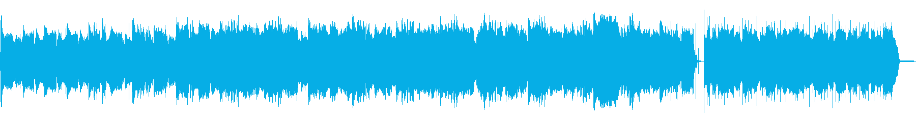 古いホラー映画のオープニングのような曲の再生済みの波形