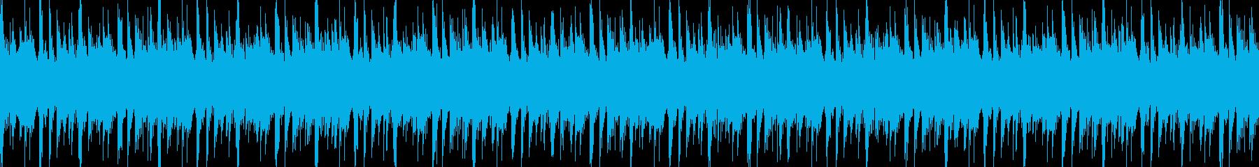 パーカッションとシンセ不気味なBGMの再生済みの波形