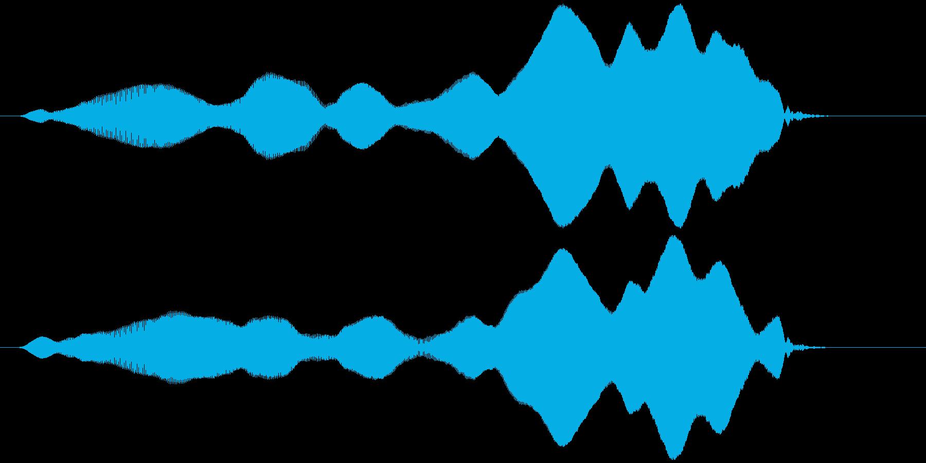 オノマトペ(やや長め上昇)ヒヨーォーの再生済みの波形