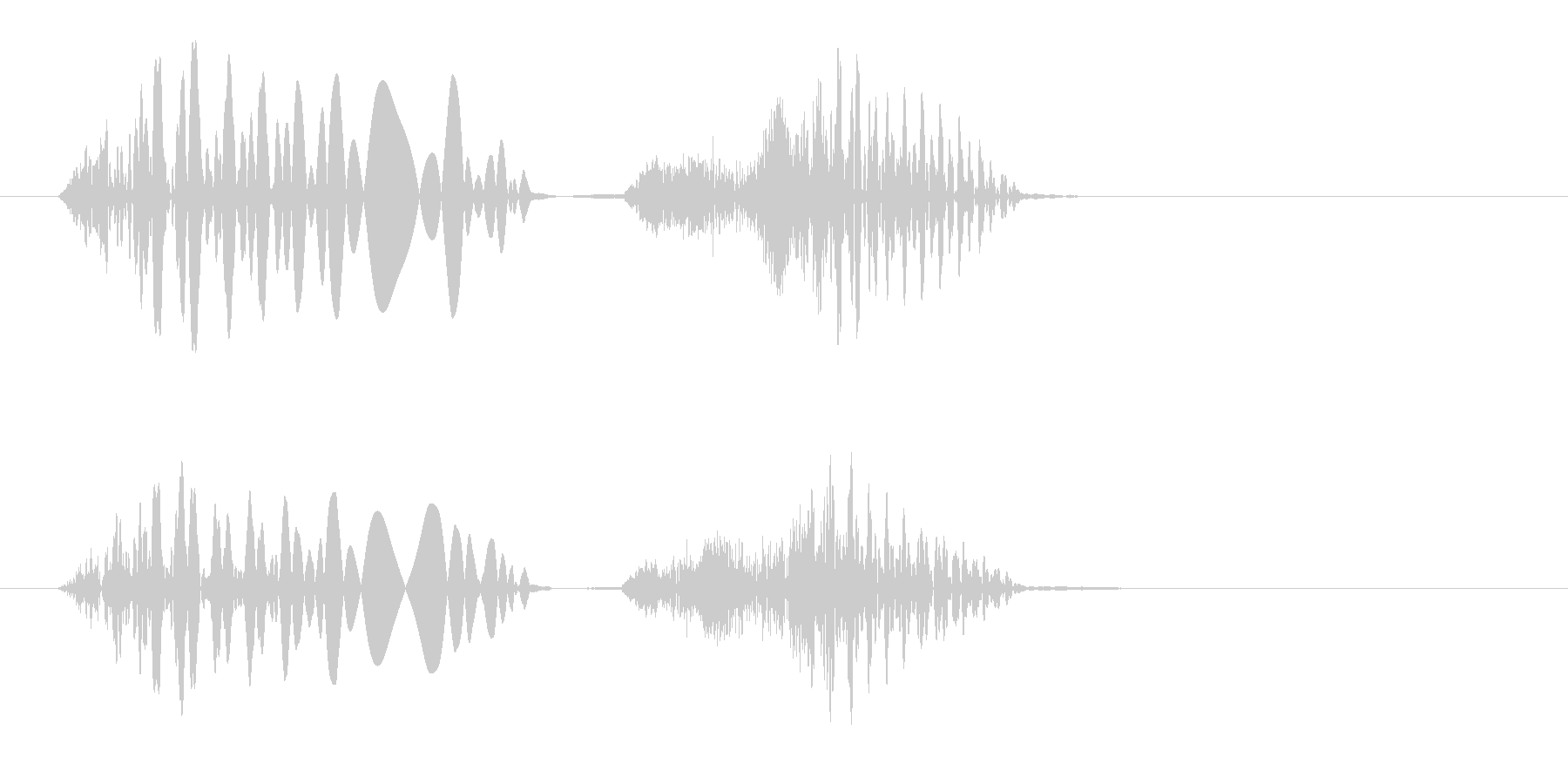 グチョ(何かを踏んだ時や潰れる効果音)の未再生の波形