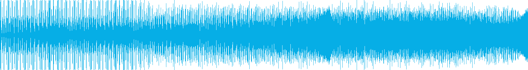 無機質なトランステクノの再生済みの波形