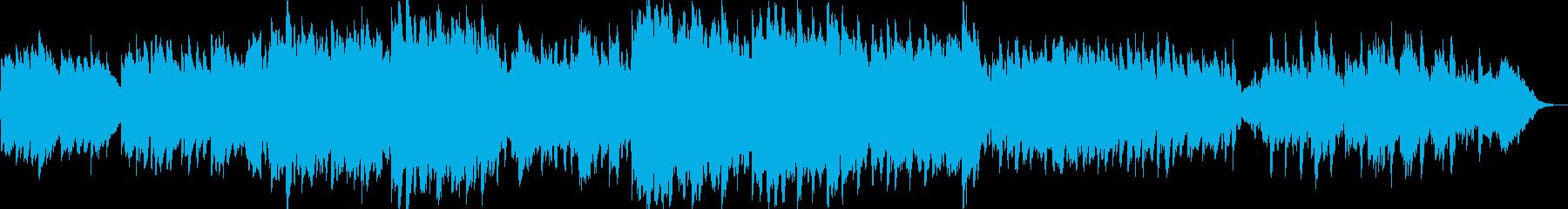 可愛らしい音色のゆったりリラクゼーションの再生済みの波形