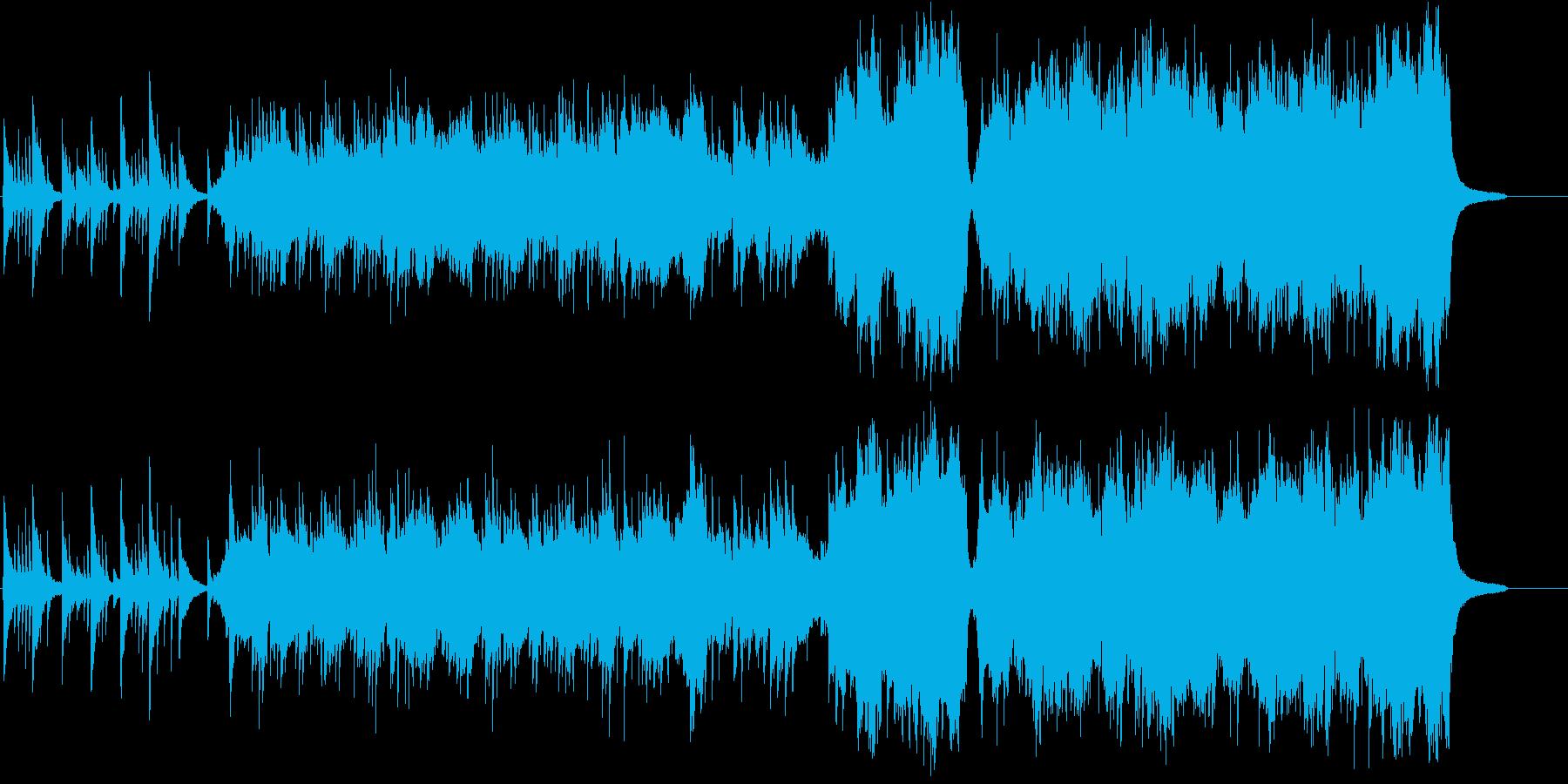 ピアノとオーケストラのロマンチック雪物語の再生済みの波形