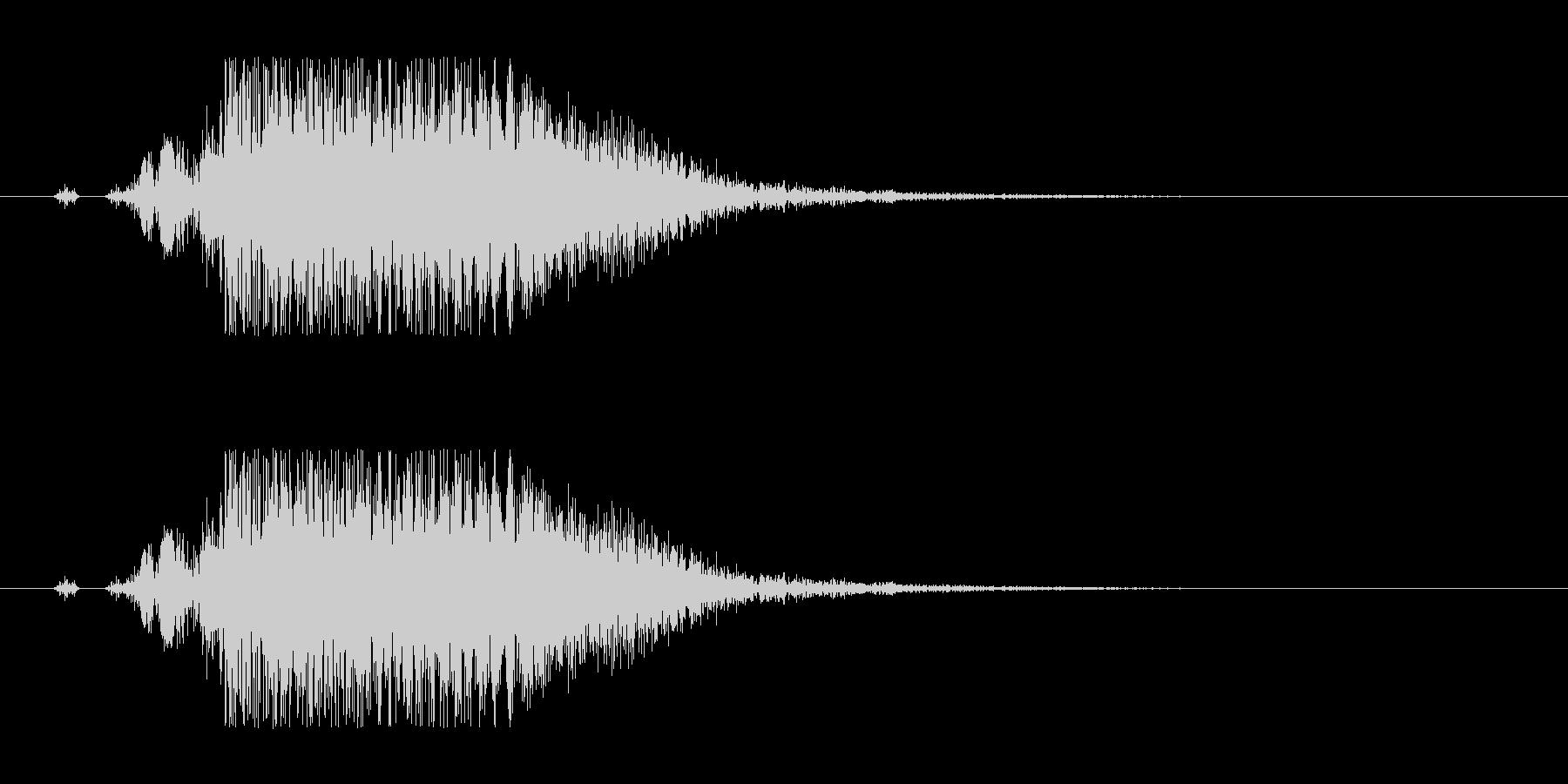 重いヒット音。金属系。バシッ。バシン。の未再生の波形