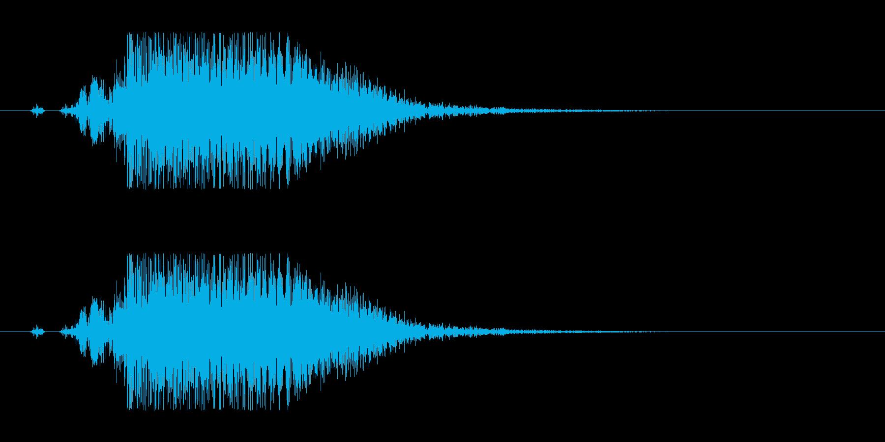 重いヒット音。金属系。バシッ。バシン。の再生済みの波形