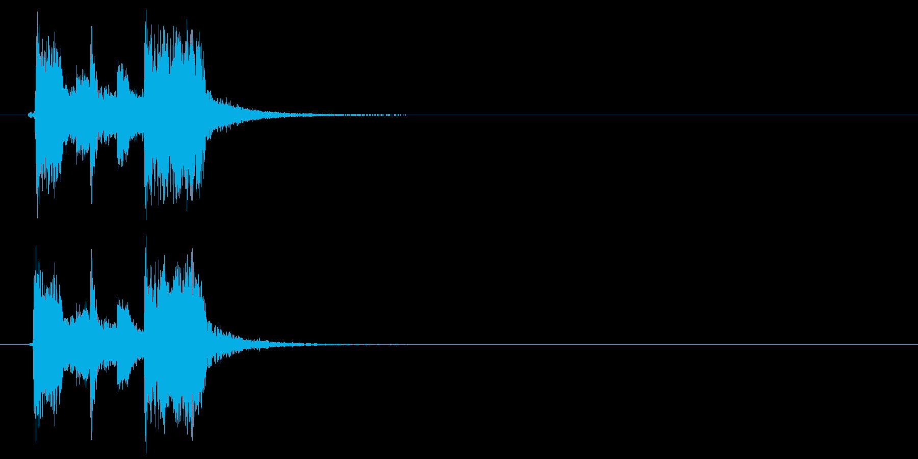 キラキラポップジングルの再生済みの波形