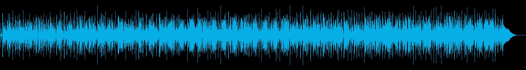 コーヒーブレイク風の軽いBGMの再生済みの波形
