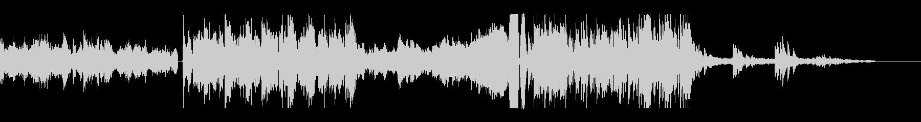 未来的かつ機械的なピアノ主体のサウンドの未再生の波形