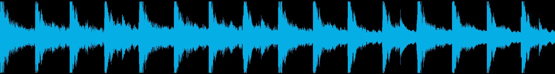 <ショートループ> ピアノ①+ビートAの再生済みの波形