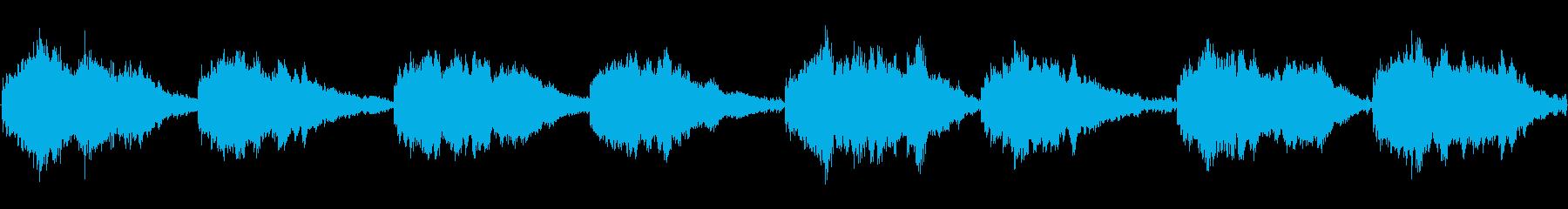 テクノ暖かい神秘ループの再生済みの波形