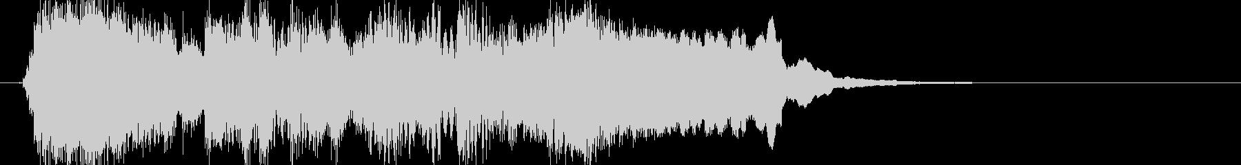 ブルース調 ジングル ゲームオーバーの未再生の波形