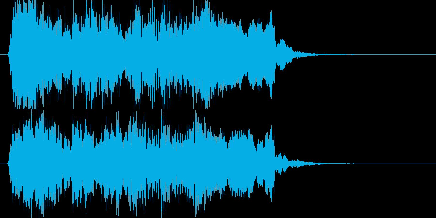 ブルース調 ジングル ゲームオーバーの再生済みの波形