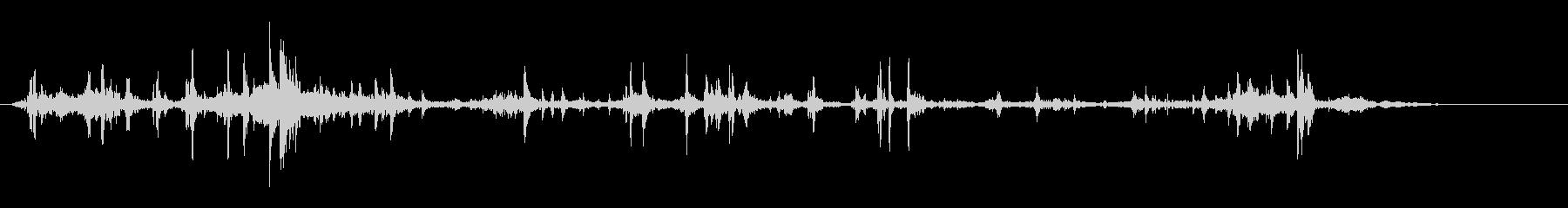 クシャクシャ(紙などをクシャッとする音)の未再生の波形