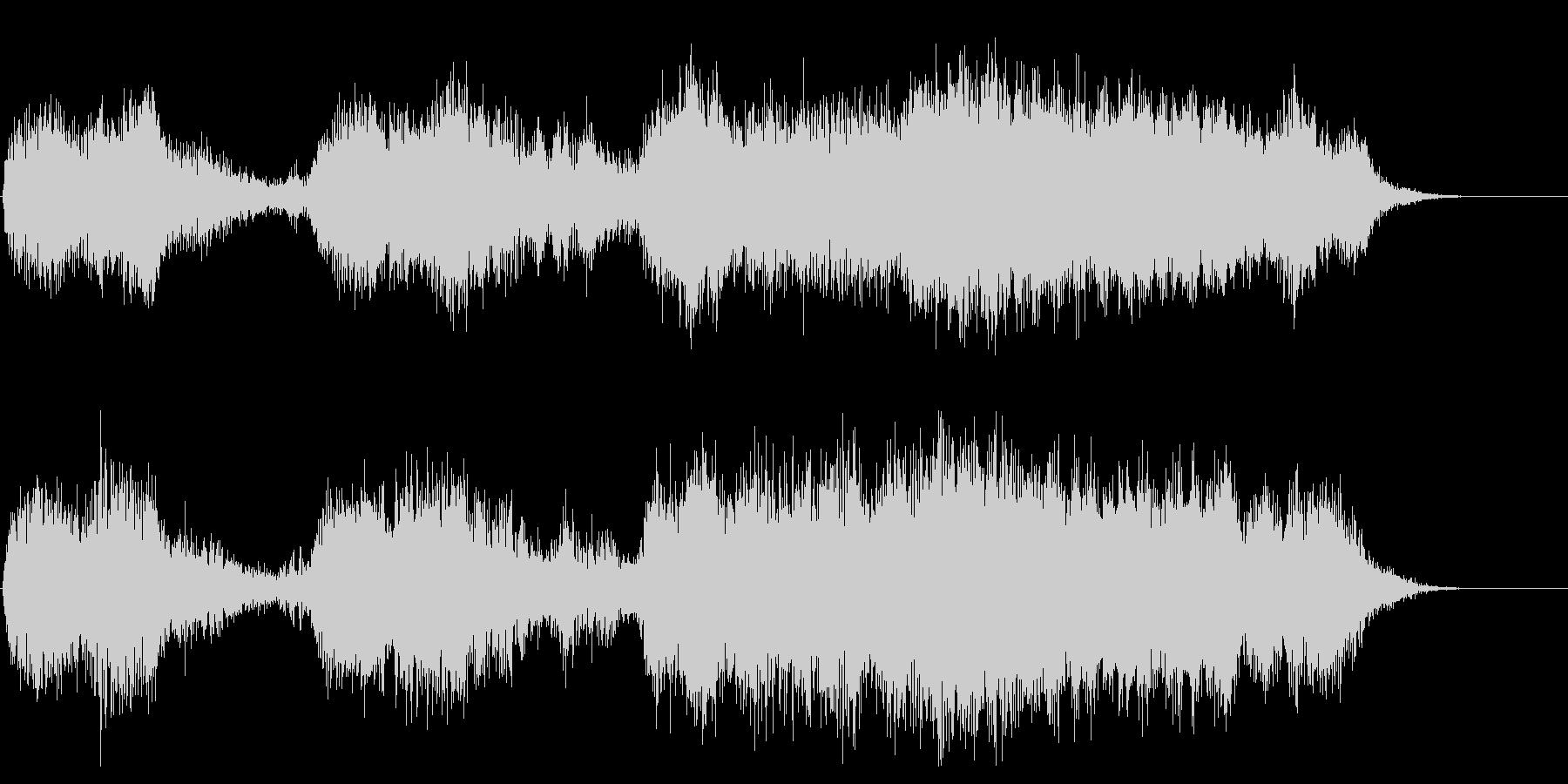 ハロウィン系 恐怖系のジングル オルガンの未再生の波形