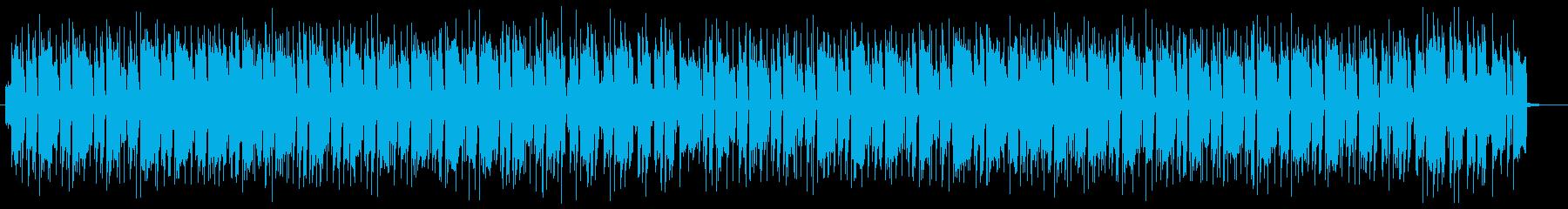 コミカルで軽やかなミュージックの再生済みの波形