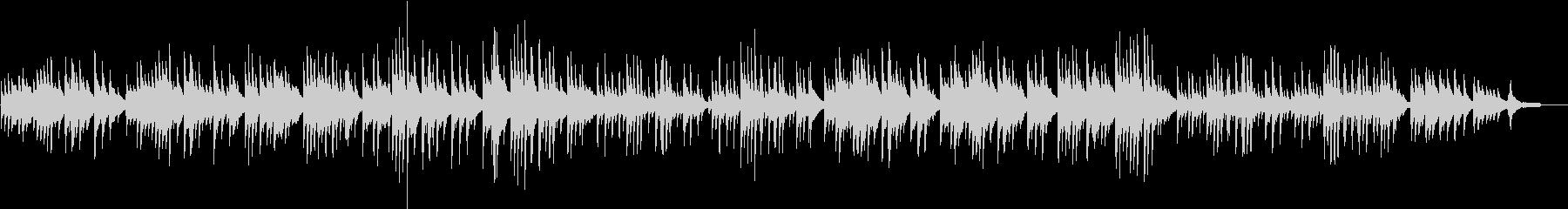 ジブリ風やさしいピアノバラードの未再生の波形