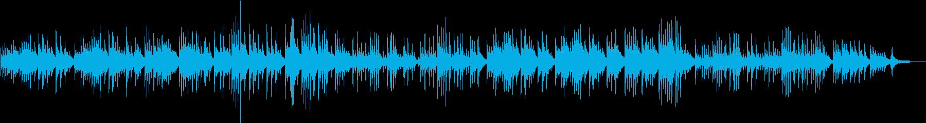 ジブリ風やさしいピアノバラードの再生済みの波形