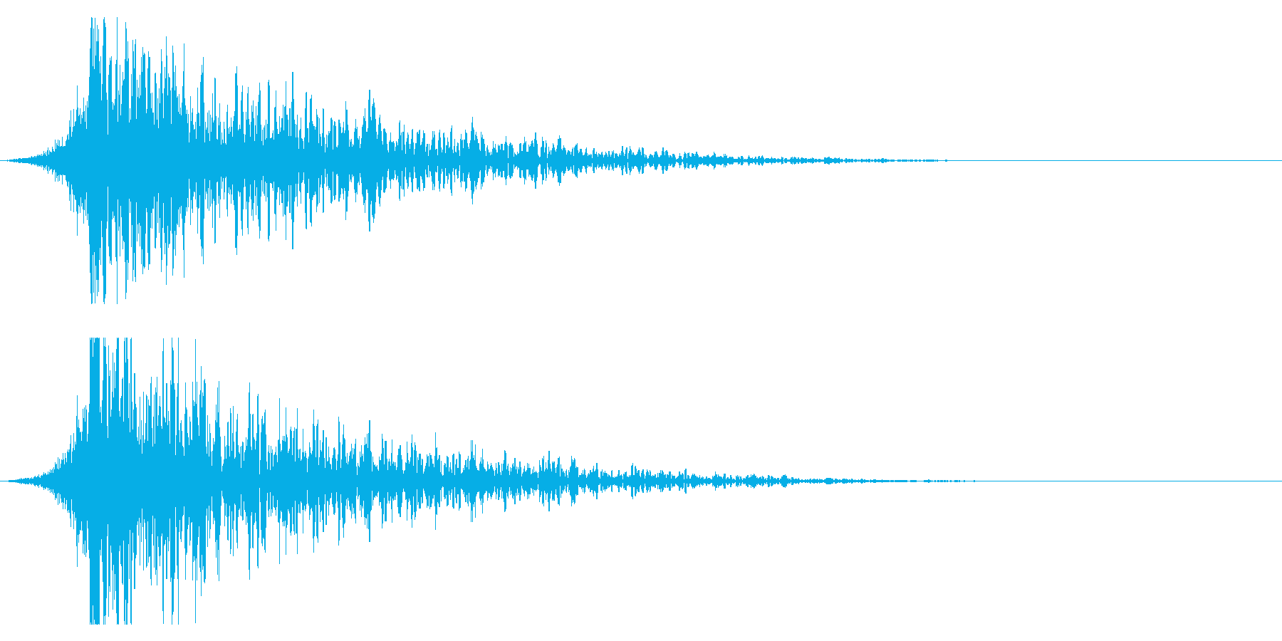 シュードーン-24-1(インパクト音)の再生済みの波形