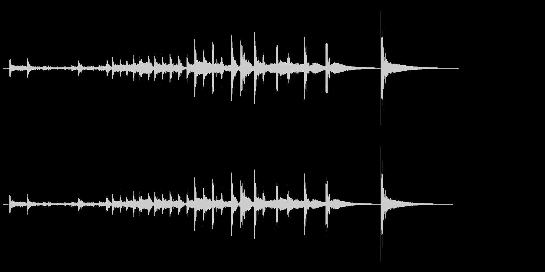 うちわ太皷の連打フレーズ音の未再生の波形