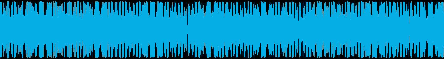 EDM、サイバー系ゲーム等、ループ②の再生済みの波形