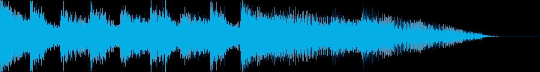 ちょっぴり怖いコミカルなホラーハロウィンの再生済みの波形