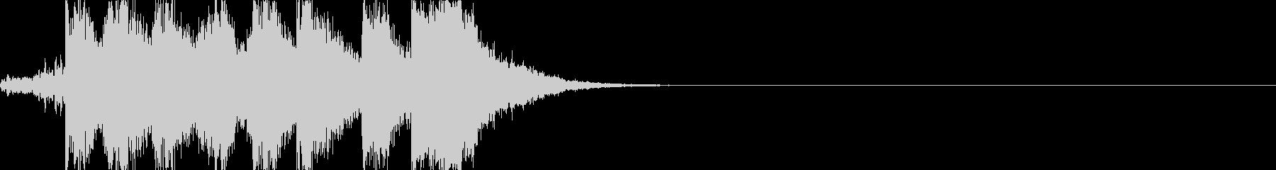 可愛らしくパワフルなオーケストラジングルの未再生の波形