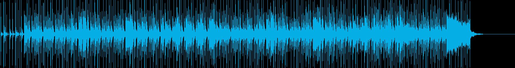ほのぼのとした雰囲気の日常系ポップスの再生済みの波形