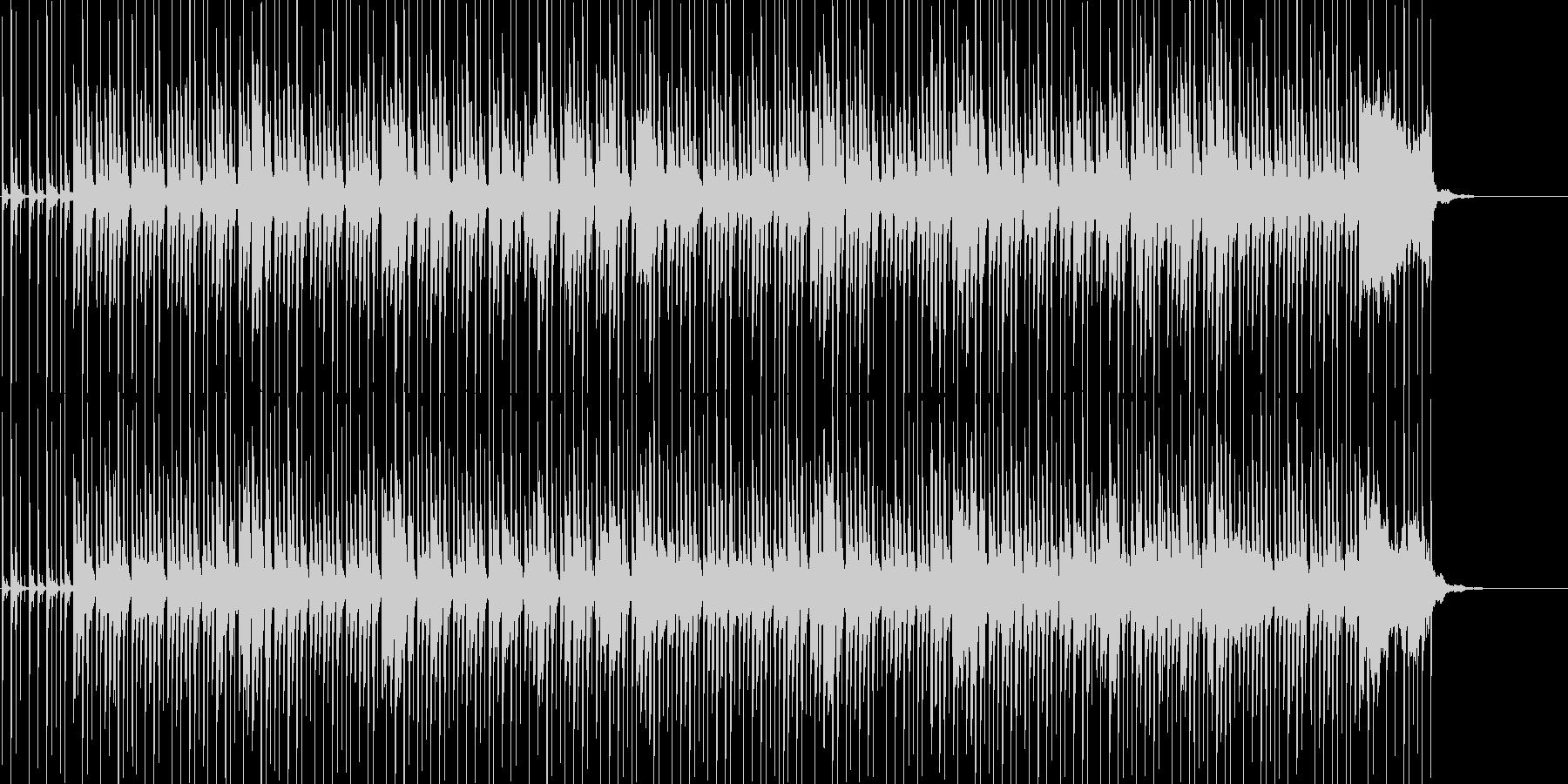 ほのぼのとした雰囲気の日常系ポップスの未再生の波形