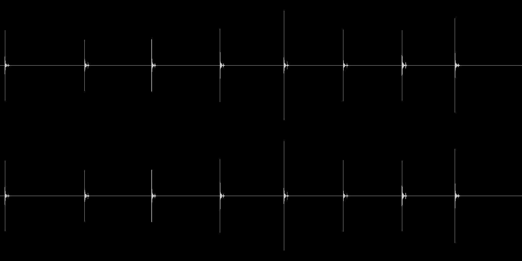 PC キーボード03-05(単発 強)の未再生の波形