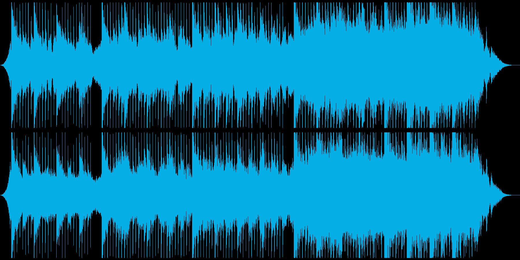 ピアノとストリングスのエモーショナル曲の再生済みの波形