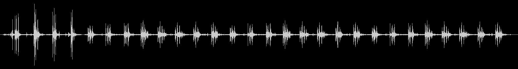 オンボードギャロップ馬の未再生の波形