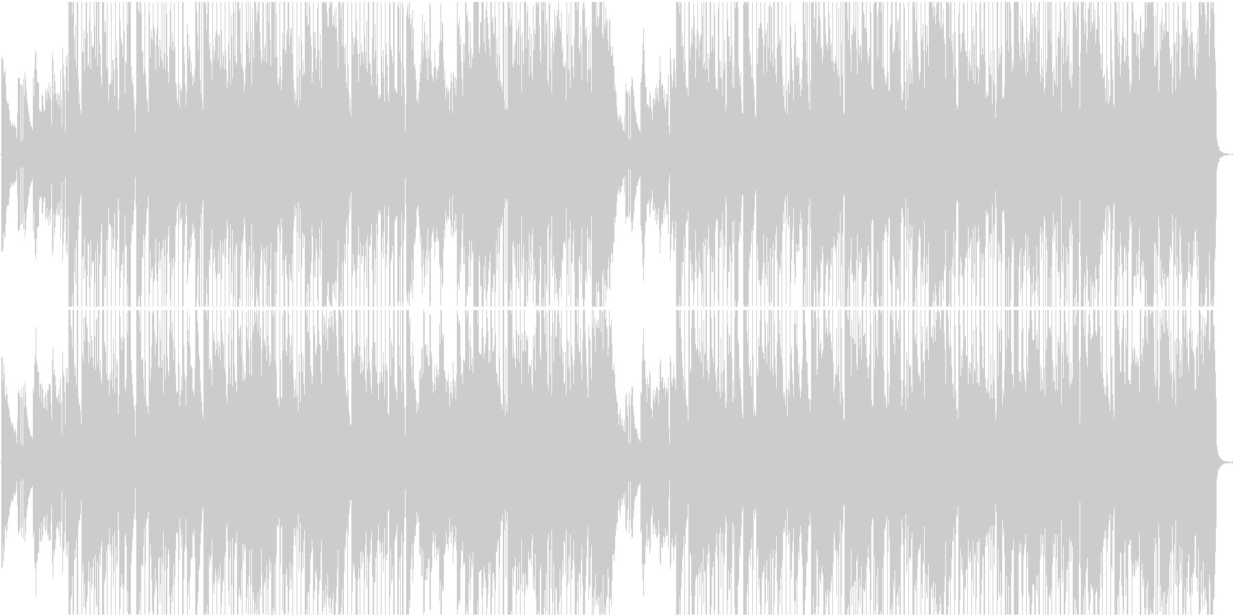 優雅で穏やかなスムースジャズの未再生の波形
