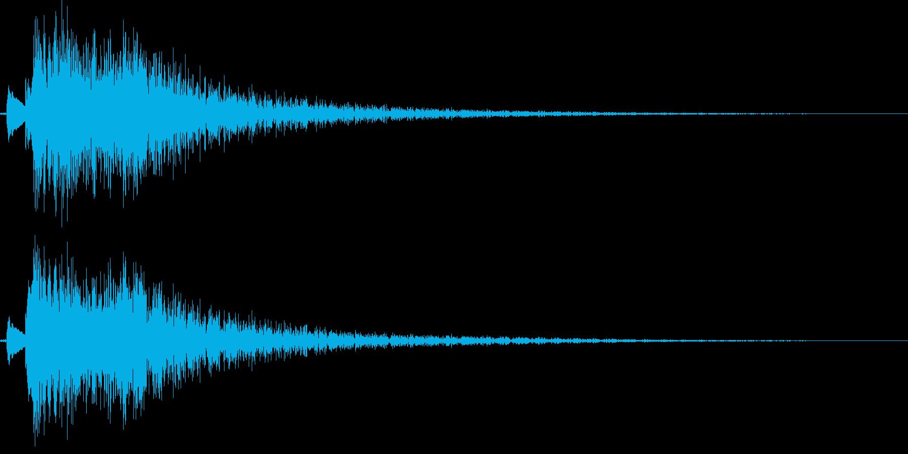 和風演出(琴の生演奏)の再生済みの波形