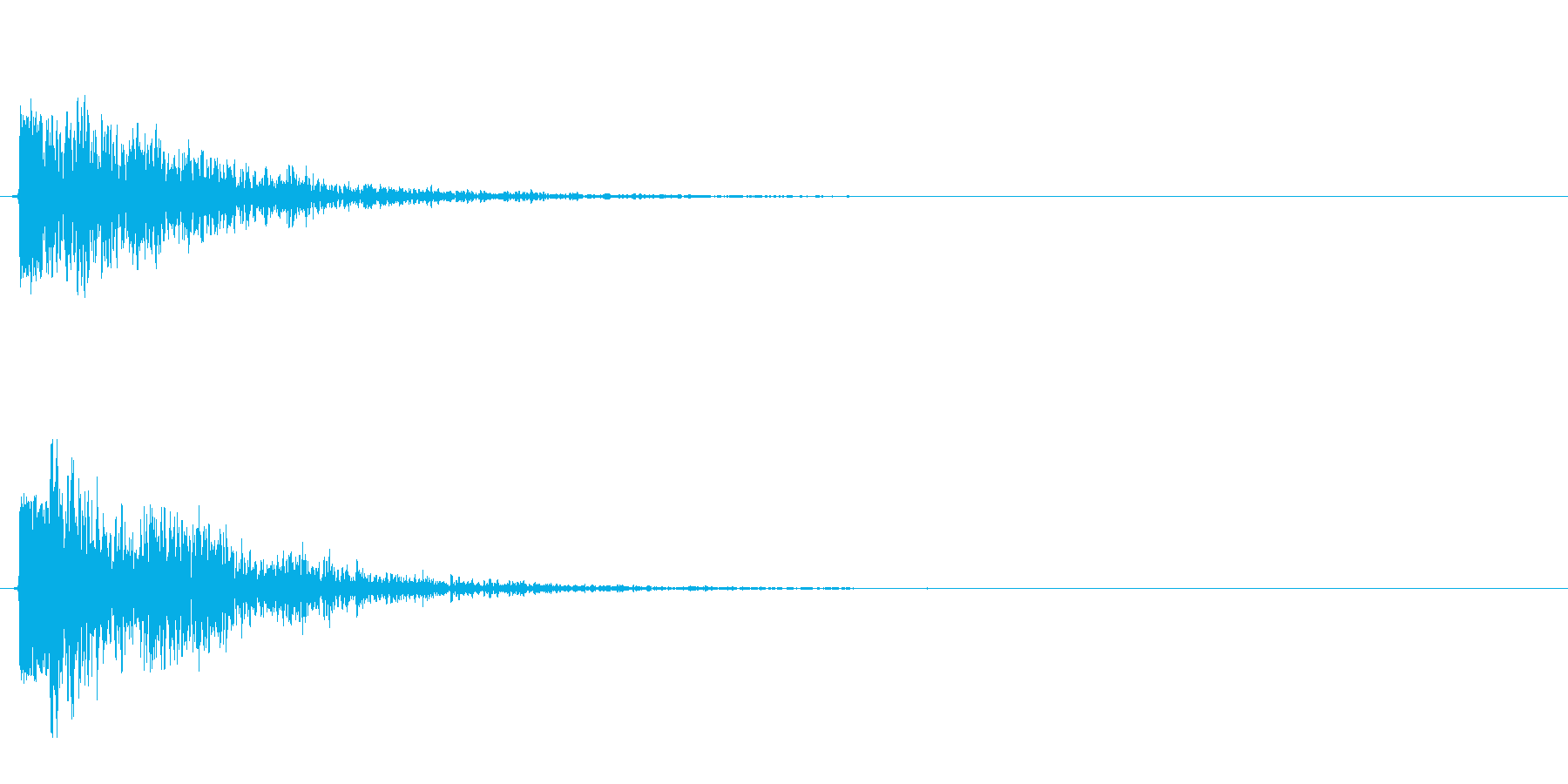ポヨン(コミカルに跳ねる音)の再生済みの波形