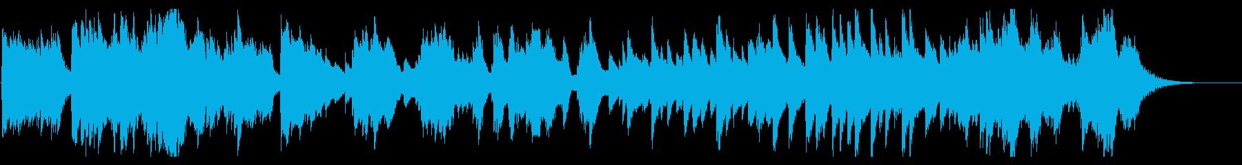 せつない、かなしい雰囲気のハープの曲の再生済みの波形
