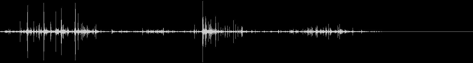 キリキリとした摩擦音 14の未再生の波形