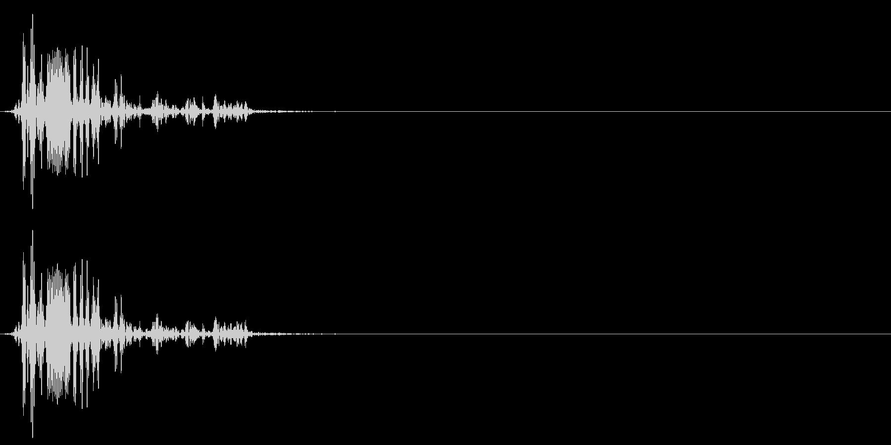 [生録音]ゴクリ、飲み込む音01(1回)の未再生の波形