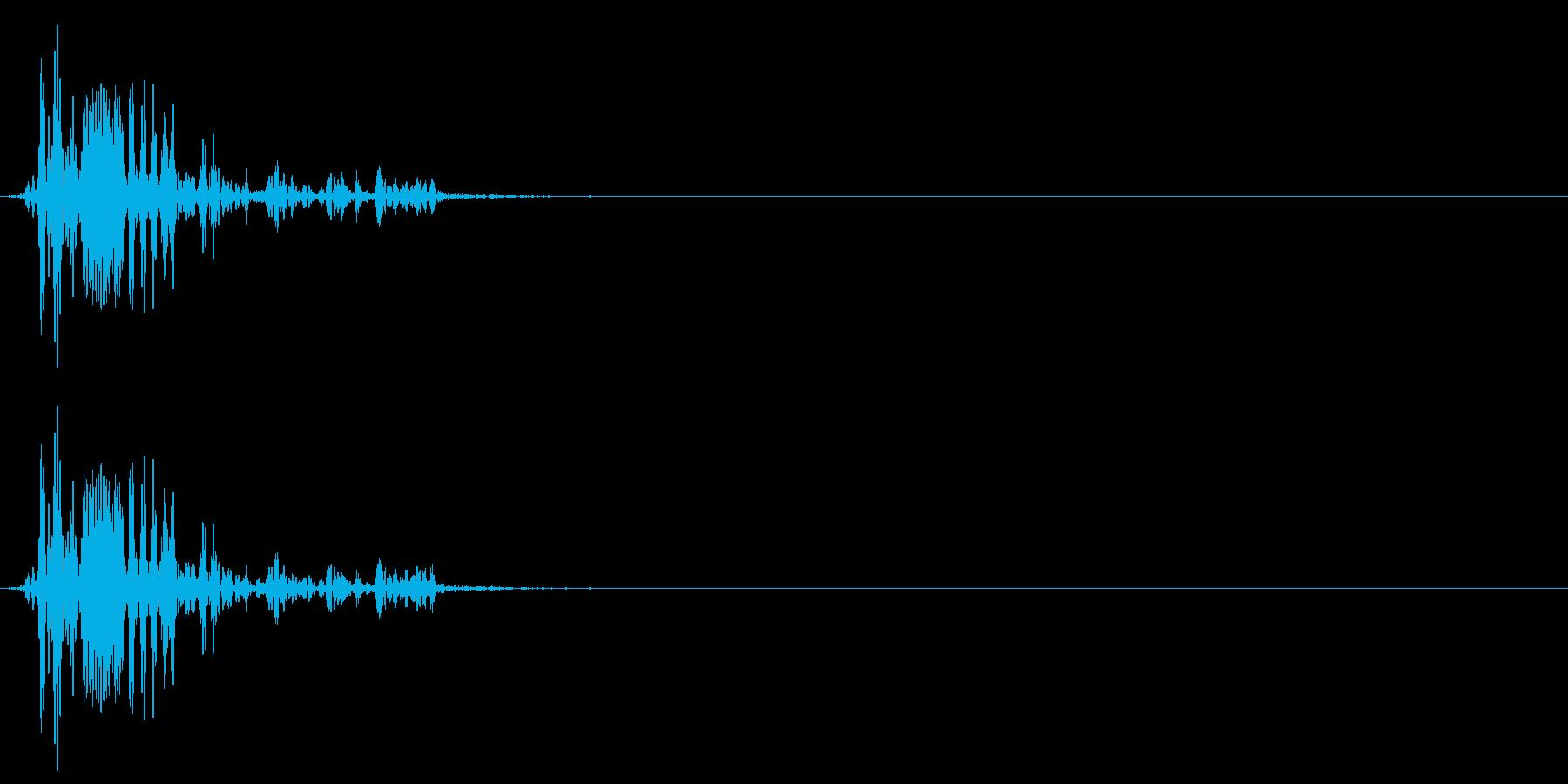 [生録音]ゴクリ、飲み込む音01(1回)の再生済みの波形