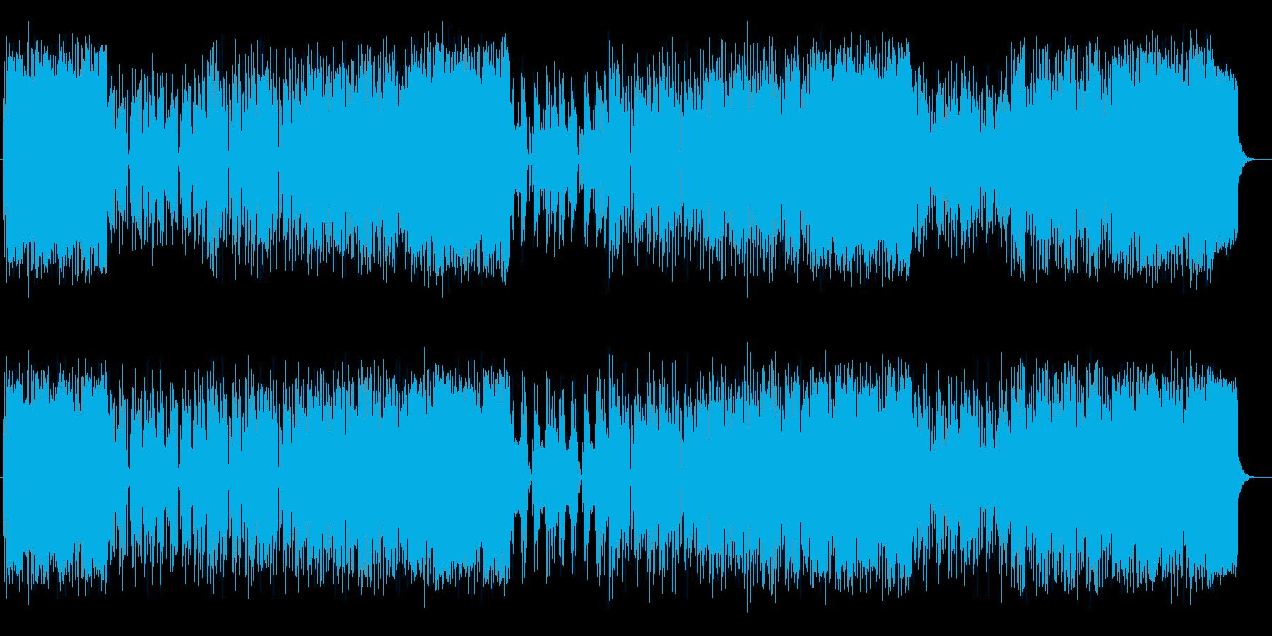 アップテンポで軽快なシンセポップスの再生済みの波形