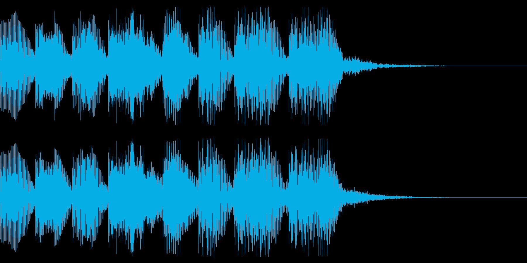 8bit ファミコン風 場面転換、クリアの再生済みの波形