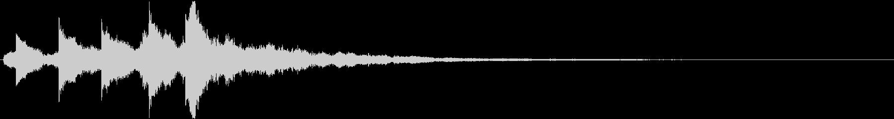 オルゴールの可愛いサウンドロゴの未再生の波形