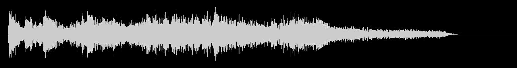 エレガントなJAZZピアノのジングルの未再生の波形