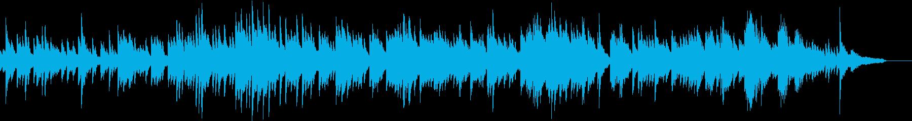 せせらぎをイメージした優しいピアノの再生済みの波形
