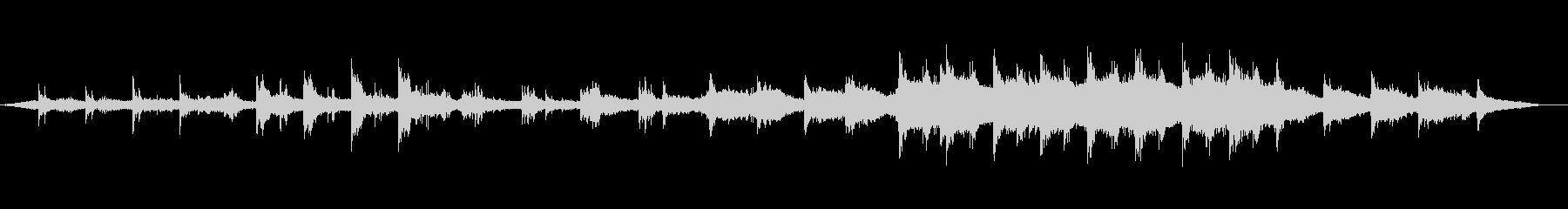 幻想的でゆったりとしたピアノアンビエントの未再生の波形